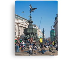 The Statue of Eros: Piccadily Circus, London, UK. Canvas Print