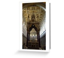 Tabernacle of Confession of the Basilica of St. Paul Greeting Card