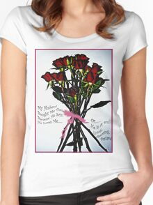 Pretty Flowers Women's Fitted Scoop T-Shirt
