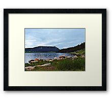Wyoming Lake Framed Print