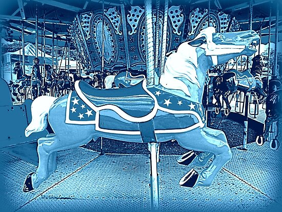 Flying Horsey Of The Moonlight Carousel  by Jean Gregory  Evans