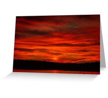 Dusk Burning Sunrise Greeting Card