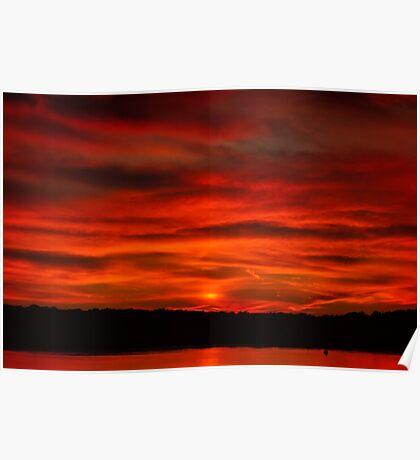 Dusk Burning Sunrise Poster