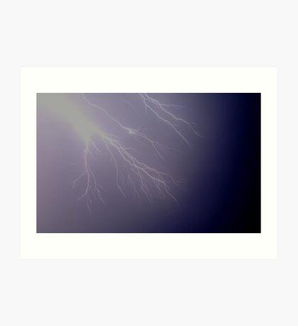 Lightning Fingers Art Print