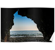 Charlestown Beach Cave,South Cornwall Poster