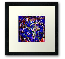 severe cave static..... communication breakdown Framed Print