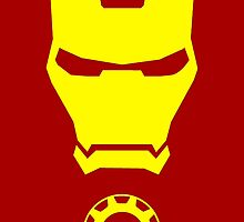 Iron Man - Minimalistic Yellow Figure  by TylerMellark