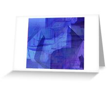 computer generated landscape (blue) Greeting Card