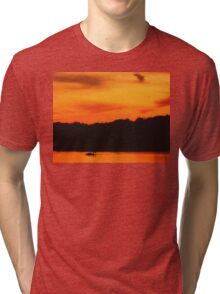 Swimming in Sunset Skies Tri-blend T-Shirt