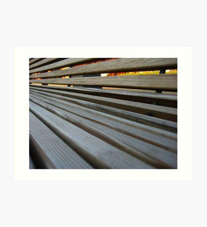 Wooden Bench Art Print