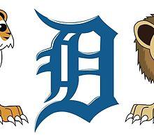 Detroit Lions & Tigers & Ds by mstiv