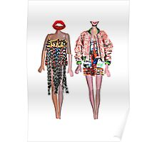 Distorted Doll Fashion Illustration Poster