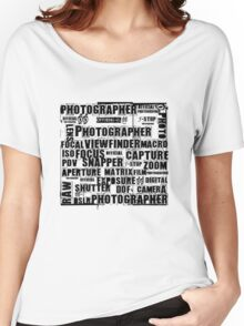 Photographer T-shirt Women's Relaxed Fit T-Shirt