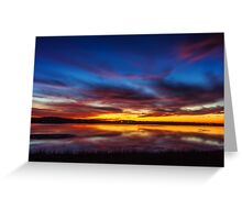Newburyport Salt Pannes Dusk Greeting Card