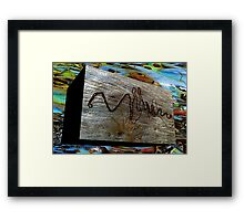 Natures signature. Framed Print