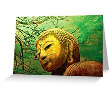 Buddha and Spring Blossoms Greeting Card
