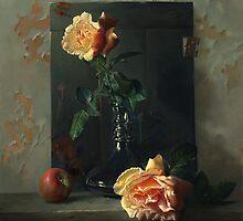 Dawn in studio of the artist by Antonov