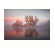 Sunrise over the  Molonglo  River Canberra  Art Print