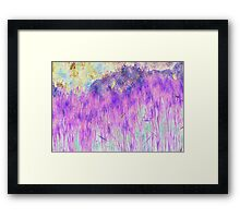 Purple Reeds 4-Available As Art Prints-Mugs,Cases,Duvets,T Shirts,Stickers,etc Framed Print