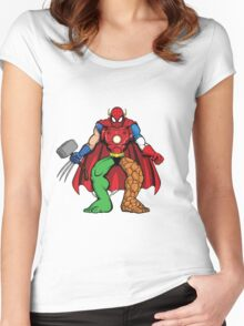 Mashup: Heroes Women's Fitted Scoop T-Shirt