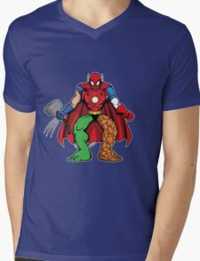 Mashup: Heroes Mens V-Neck T-Shirt