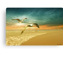 Soft Sunrise on the Beach 6 Canvas Print