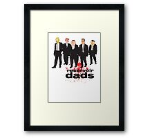Reservoir Dads (Reservoir Dogs + Family Guy + Simpsons + King of the Hill + Flintstones + Jetsons mashup) Framed Print
