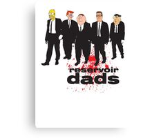 Reservoir Dads (Reservoir Dogs + Family Guy + Simpsons + King of the Hill + Flintstones + Jetsons mashup) Canvas Print