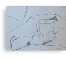 Orange and cup 2 Canvas Print