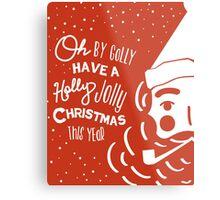 Holly Jolly Christmas Poster  Metal Print