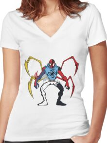 Mashup: Spider-Verse Women's Fitted V-Neck T-Shirt