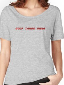 Roger, Golf Tango India Women's Relaxed Fit T-Shirt
