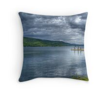Storm over Lake George Throw Pillow