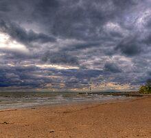 Thunderstorm over Lake Huron by Michael Schaefer
