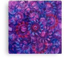 Going 'Round Blue Canvas Print