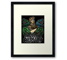 Who's Your Alpha? Framed Print