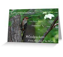 Male Red-bellied Woodpecker ~ Melanerpes carolinus  Banner Greeting Card