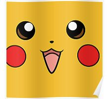 Pokemon - Pikachu Face Yellow Poster