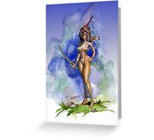 Blue Sword Greeting Card