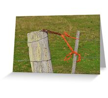 Security Code Red Greeting Card