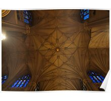 The view straight up, from in front of the main altar at St. Pats Poster