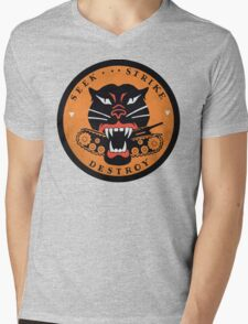 Seek Strike Destroy Tank Destroyer Emblem Mens V-Neck T-Shirt