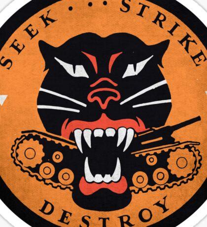 Seek Strike Destroy Tank Destroyer Emblem Sticker
