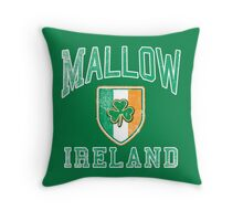 Mallow, Ireland with Shamrock Throw Pillow