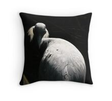 White Crane Seeks Enlightenment Throw Pillow