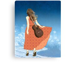 Guitar Girl Canvas Print