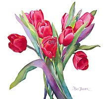 Springtime Red Tulips! Photographic Print
