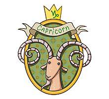 Capricorn. Cartoon horoscope. Photographic Print