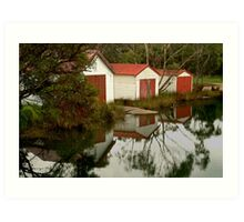 Anglesea Boat Sheds,Great Ocean Road Art Print