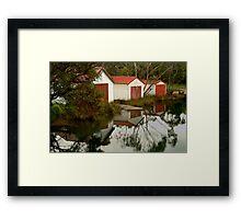 Anglesea Boat Sheds,Great Ocean Road Framed Print